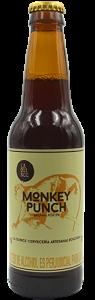 Monkey Punch es una cerveza tipo brown porter con notas aromáticas de especias y frutas, su cuerpo robusto se contempla con el tostado del café y el dulxor del chocolate. Su leve amargor y textura aterciopelada le dan un carácter único que lleva fuera de lo convencional.